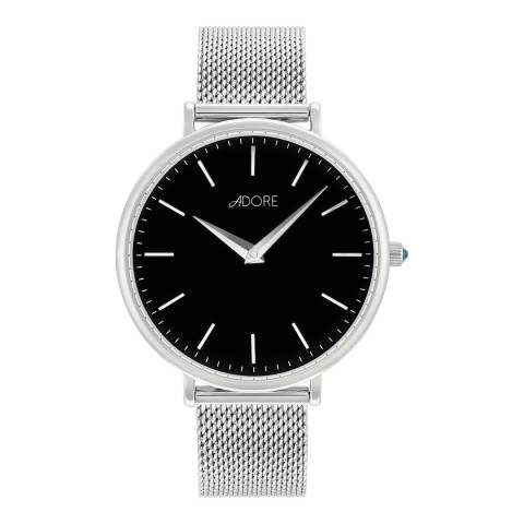 Adore by Swarovski® Silver Shimmer Mesh Watch 33mm