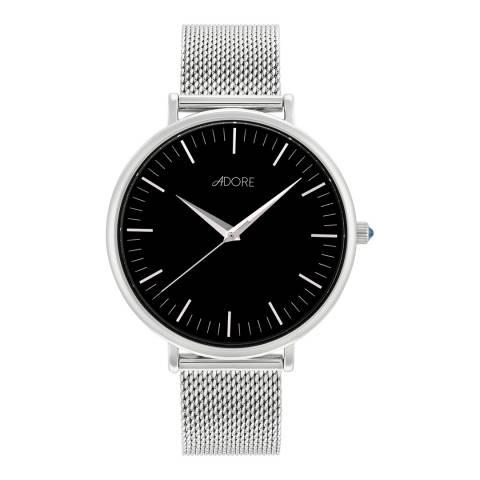 Adore by Swarovski® Silver Shimmer Mesh Watch 38mm