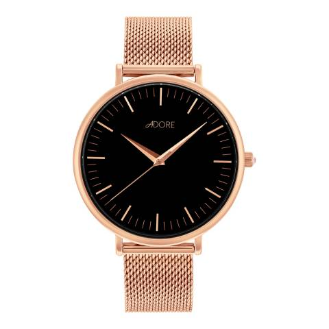 Adore by Swarovski® Rose Gold Plated Shimmer Mesh Watch 38mm