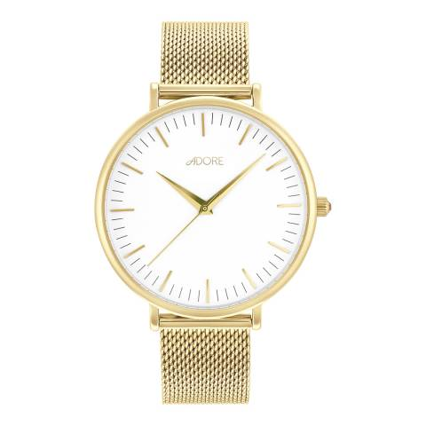 Adore by Swarovski® Gold Plated Shimmer Mesh Watch 38mm