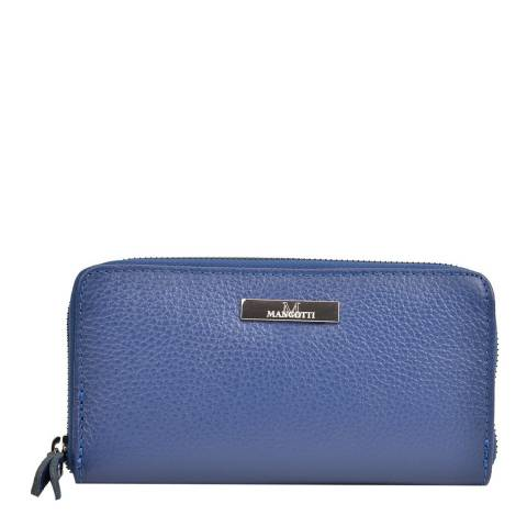 Mangotti Blue Leather Wallet