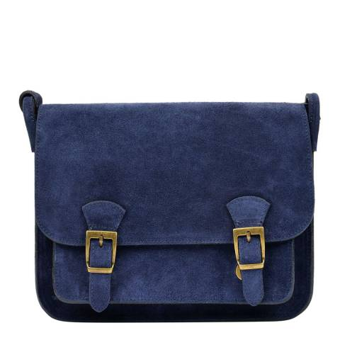 Renata Corsi Navy Leather Shoulder Bag