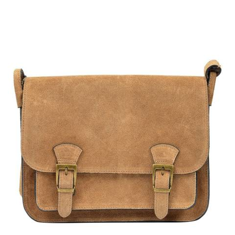 Renata Corsi Sand Leather Shoulder Bag