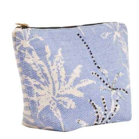 Pia Rossini Denim Blue Tahiti Makeup Bag