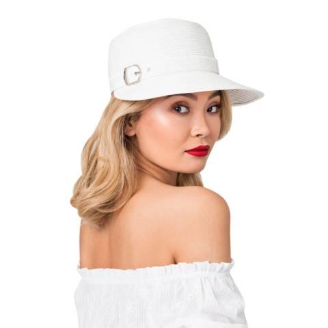 Pia Rossini White/Silver Brady Hat