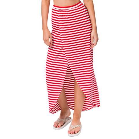 Pia Rossini Red/White Allure Maxi Skirt