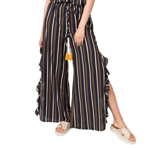 Pia Rossini Navy/Yellow Carmel Trousers
