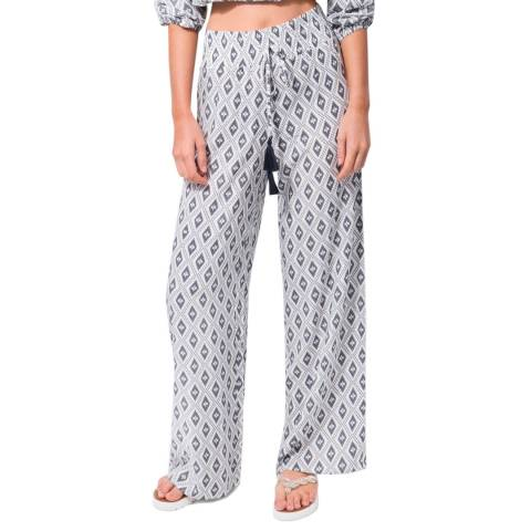 Pia Rossini White/Navy Elviria Trousers