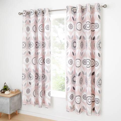 Catherine Lansfield Annika 168x183cm Curtains, Pink