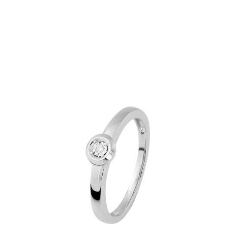 Dyamant Silver Diamond Ring 0.01cts