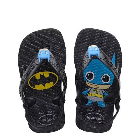 Havaianas Baby Black Herois Flip Flops