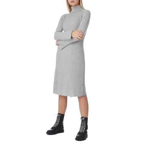I.T.D Grey Cashmere Polo Neck Dress