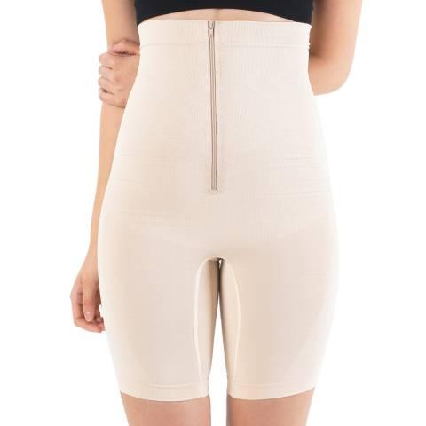 Formeasy Beige High Waist Long Leg Zipper Shaper