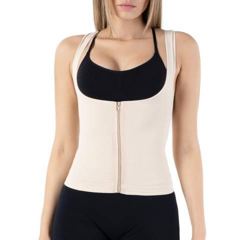 Formeasy Beige Underbra Zipper Singlet