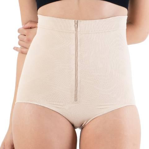 Formeasy Beige High Waist Zipper Slip Shaper