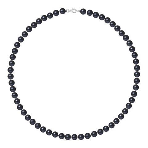 Ateliers Saint Germain Black Row Of Pearls Necklace 6-7mm