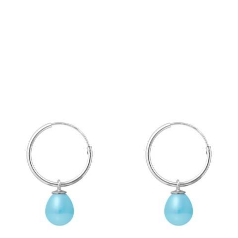 Ateliers Saint Germain Turquoise Pearl Pear Drop Earrings 7-8mm
