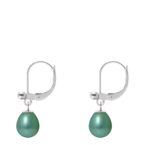 Ateliers Saint Germain Green Pearl Pear Drop Earrings 6-7mm