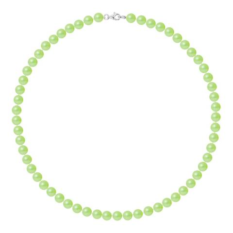 Ateliers Saint Germain Green Row Of Pearls Necklace 6-7mm