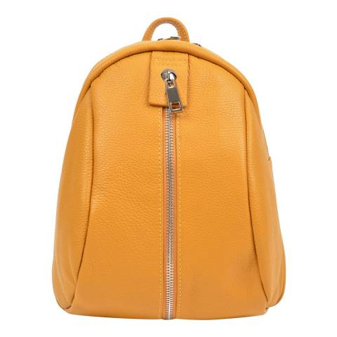 Mangotti Yellow Leather Backpack
