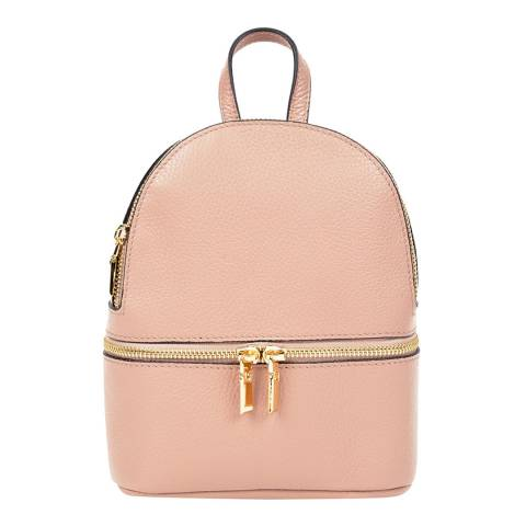 Sofia Cardoni Blush Leather Backpack