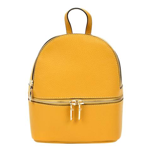 Sofia Cardoni Yellow Leather Backpack