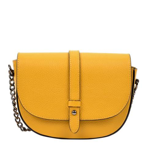 Sofia Cardoni Yellow Leather Crossbody Bag
