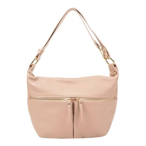 Sofia Cardoni Blush Leather Shoulder Bag