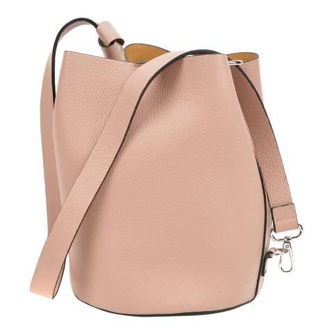 Mangotti Bags Blush Leather Bucket Bag