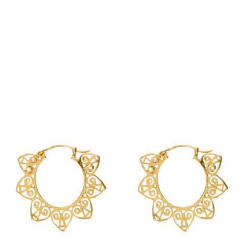Opuline Gold Hoop Earrings
