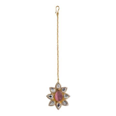 Opuline 22ct Gold Cubic Zirconia Headpiece
