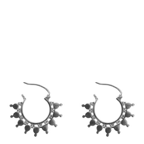Opuline Silver Hoop Earrings