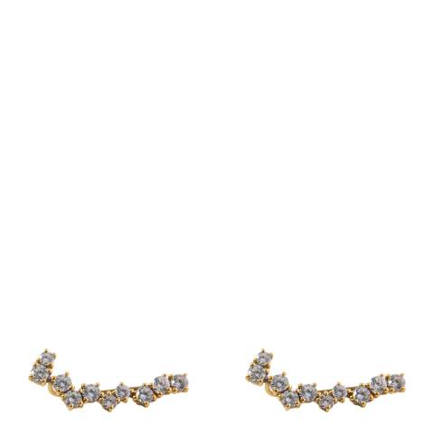 Opuline Silver Embellished Earrings