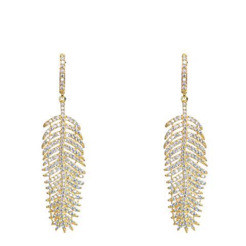 Opuline Gold Feather Earrings