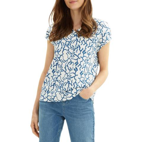 Jaeger Blue Squiggle Print Jersey