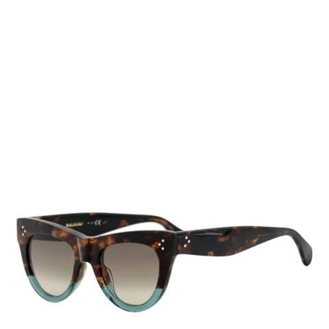 Celine Women's Brown/Blue Sunglasses 51mm