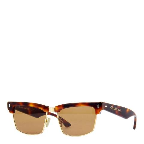 Celine Women's Brown/Gold Sunglasses 57mm