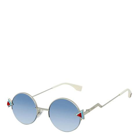 Fendi Women's Silver/Blue Sunglasses 48mm