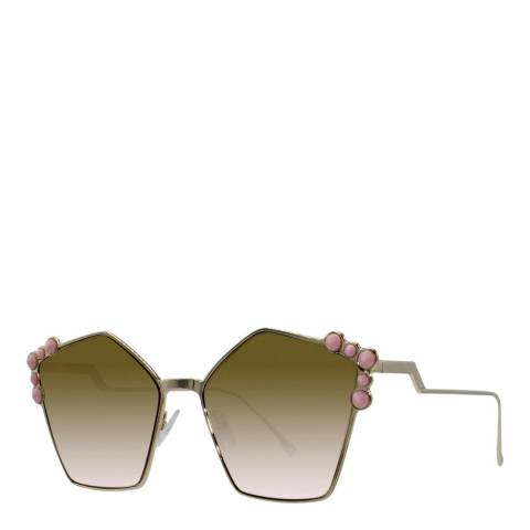 Fendi Women's Rose Gold Sunglasses 57mm