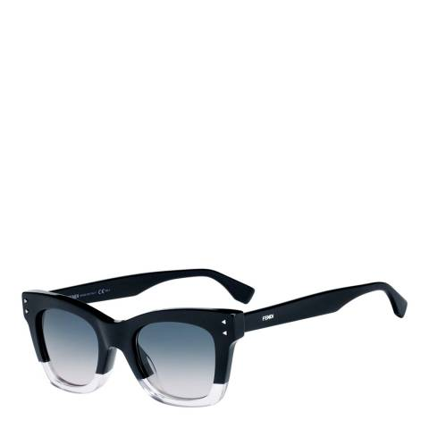 Fendi Women's Black/Pink Sunglasses 51mm