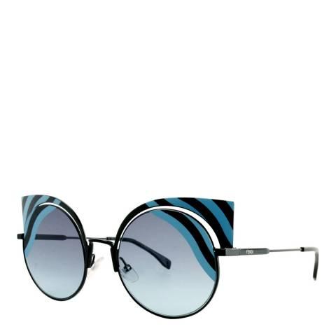 Fendi Women's Black/Azure Sunglasses 48mm