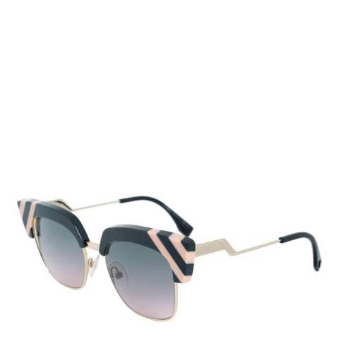 Fendi Women's Grey/Gold Sunglasses 50mm
