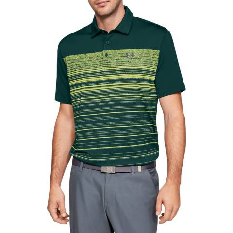 Under Armour Green/Black Playoff Polo 2.0