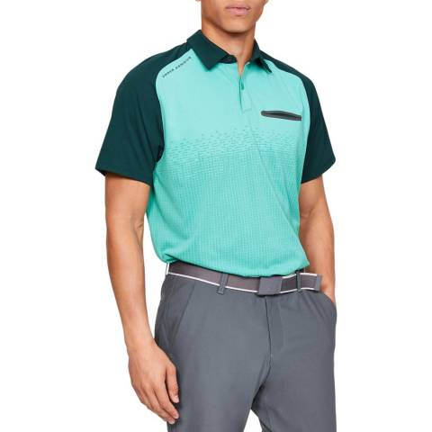 Under Armour Green Tour Tips Rise Polo