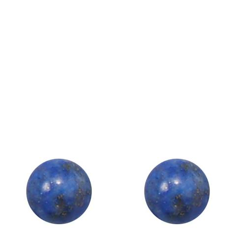 Liv Oliver Silver / Lapis Stud Earrings