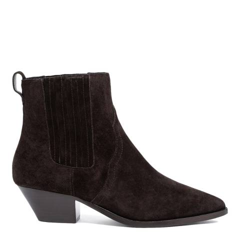 ASH Brown Future Suede Ankle Boots
