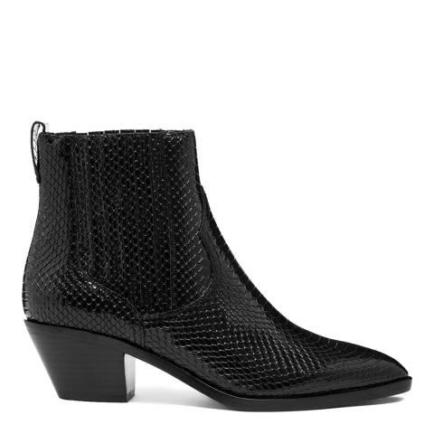 ASH Black Snake Print Floyd Bis Ankle Boots