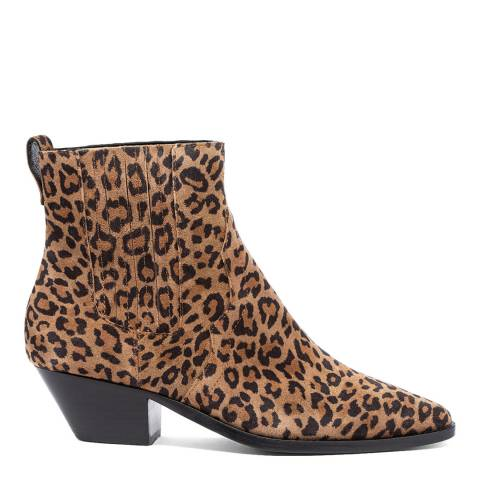 ASH Leopard Print Future Suede Ankle Boots