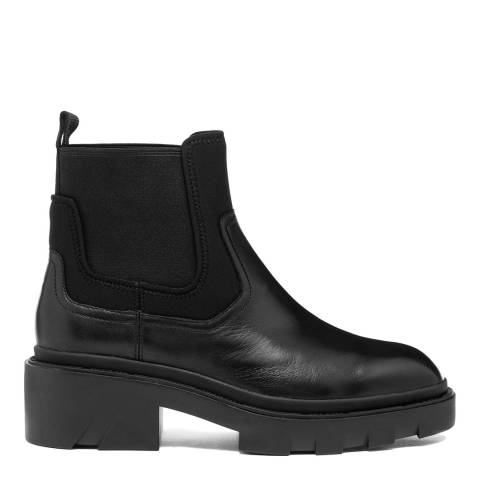ASH Black Metro Leather Ankle Boots