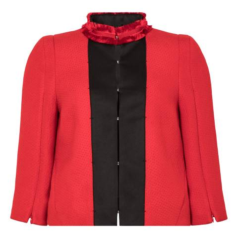 Amanda Wakeley Red Cloque Jacket
